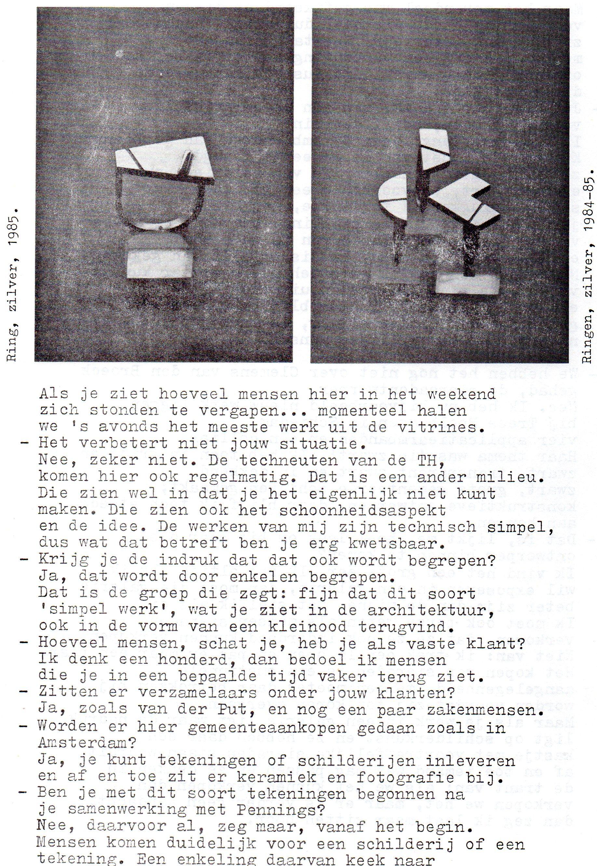 Clemens van den Broeck in het VES bulletin, 13, papier, typoscript