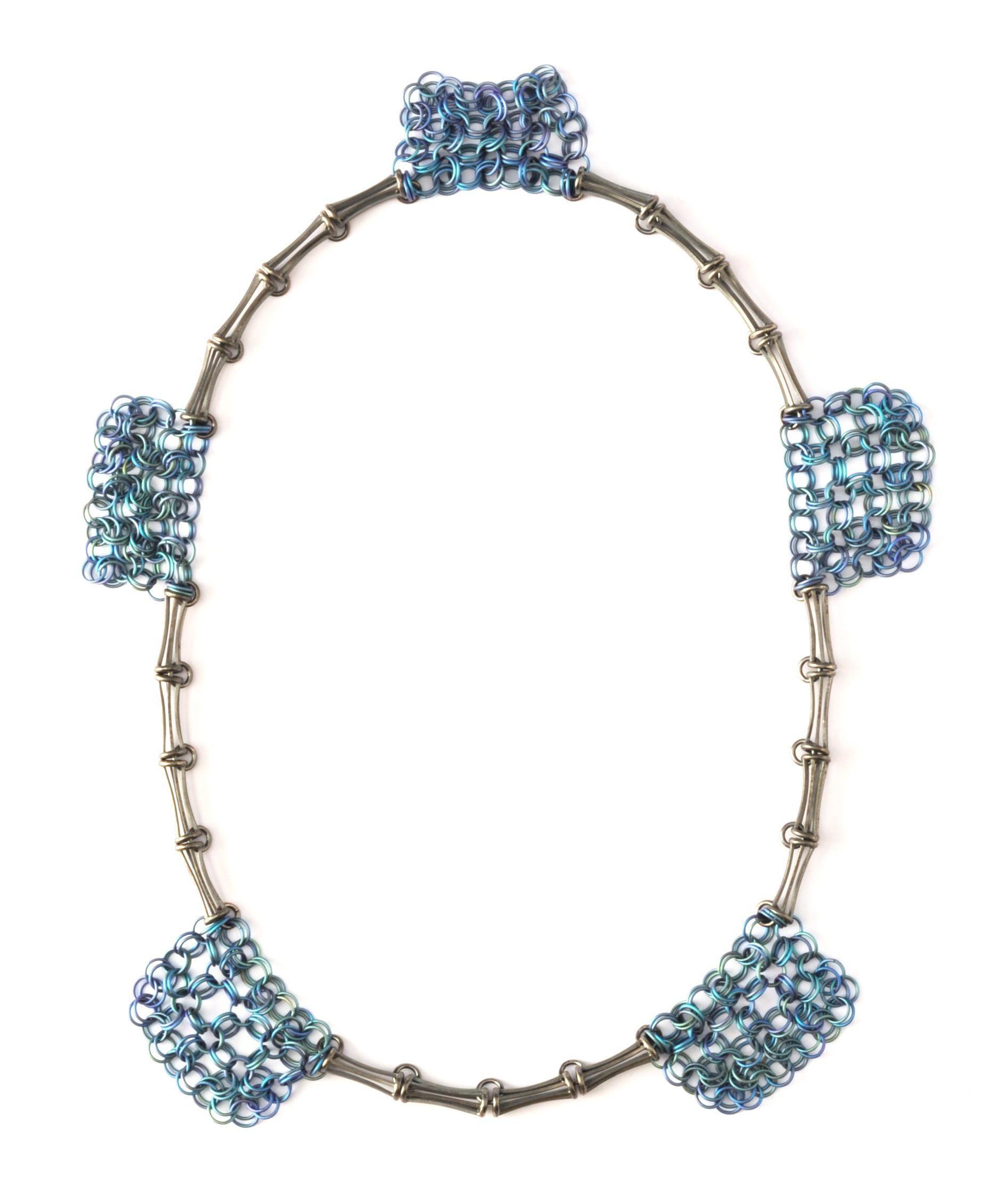 Carlier Makigawa, 505, halssieraad, zilver, titanium