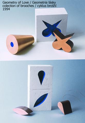 Karol Weisslechner, Geometry of Love, broches, 1994