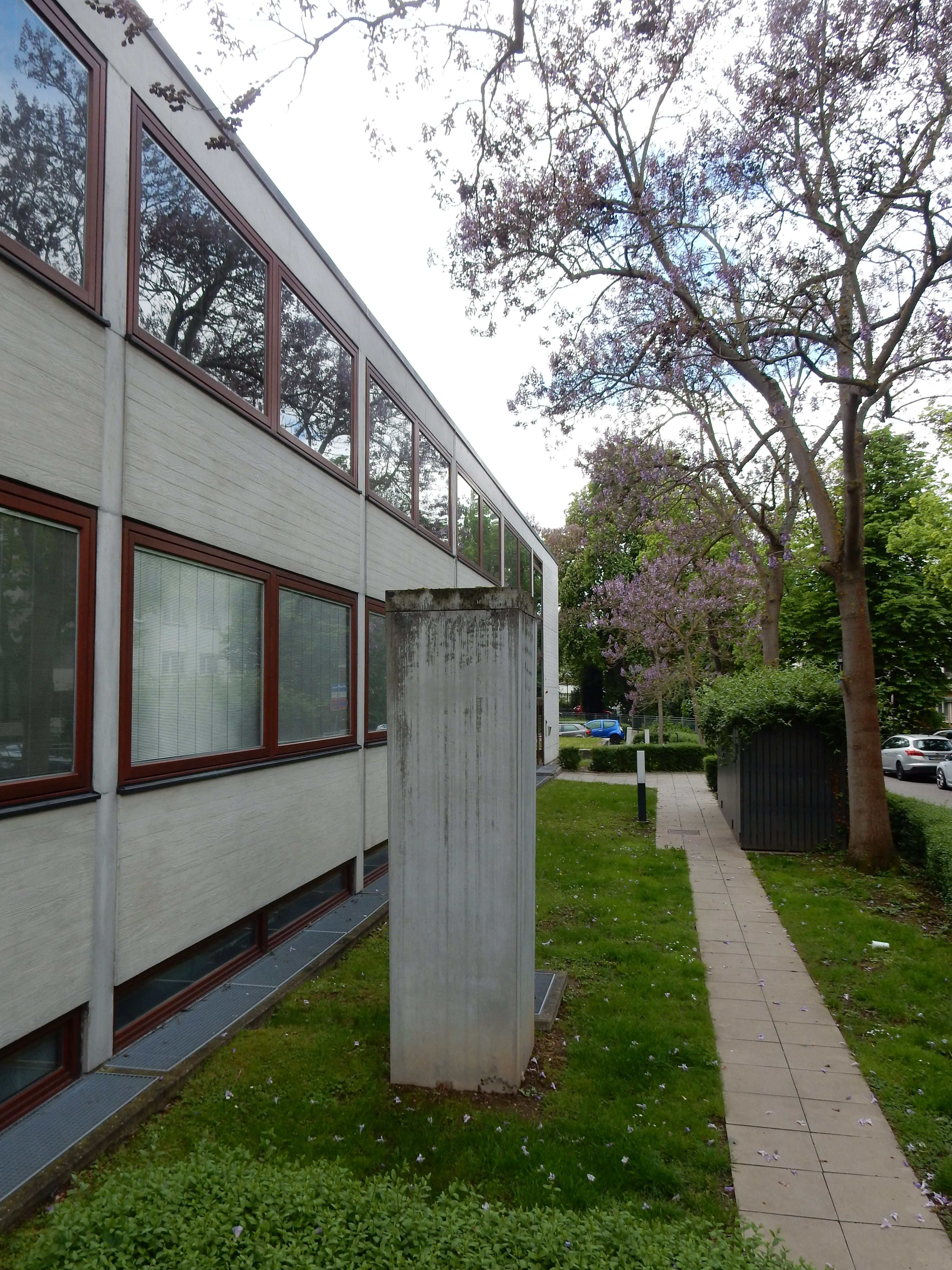 Schmuckmuseum Pforzheim, 11 mei 2019. Foto Coert Peter Krabbe, exterieur, gevel