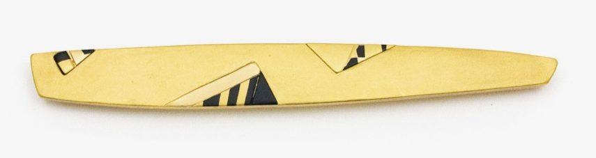 Rena Koopman, brochegroen, geel en wit goud