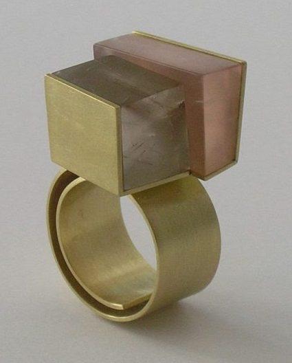 Brigitte Bezold, ring, goud, rutielkwarts, rozenkwarts