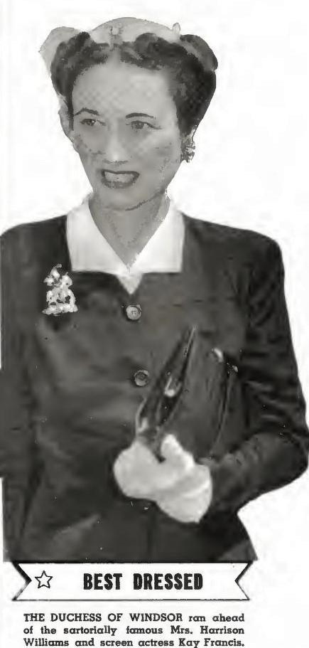 Wallis Simpson, 1942, portret