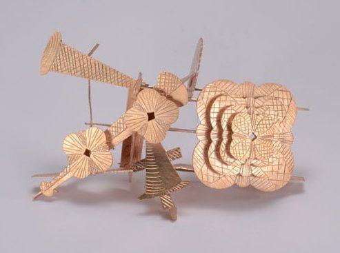 Helen Britton, broche, 2011, zilver, rose goud