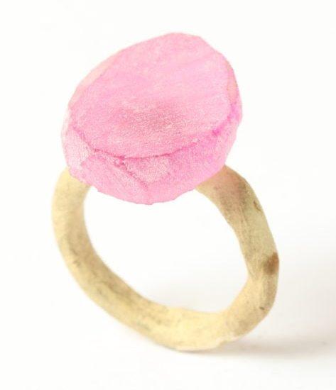 Karl Fritsch, Ring #459, ring, 2019, goud, synthetische robijn