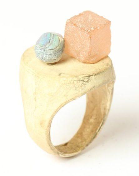 Karl Fritsch, Ring #461, ring, 2019, goud, cubic zirconia