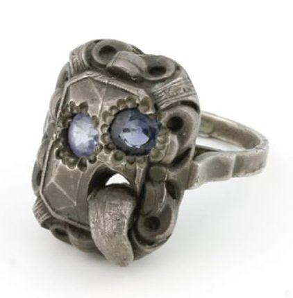 Karl Fritsch, Ring #294, ring, 2011, zilver, saffier