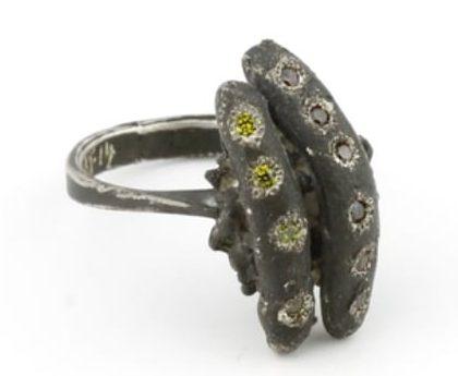 Karl Fritsch, Ring #305, ring, 2014, zilver, cubic zirconia