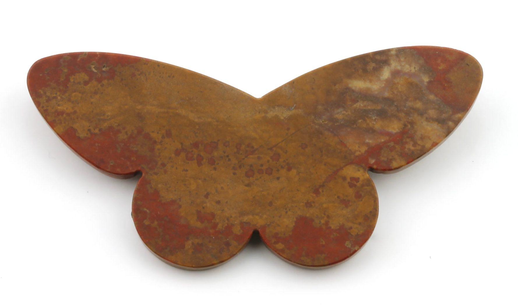 Warwick Freeman, Jasper Butterfly, broche, 1995, jaspis, zilver