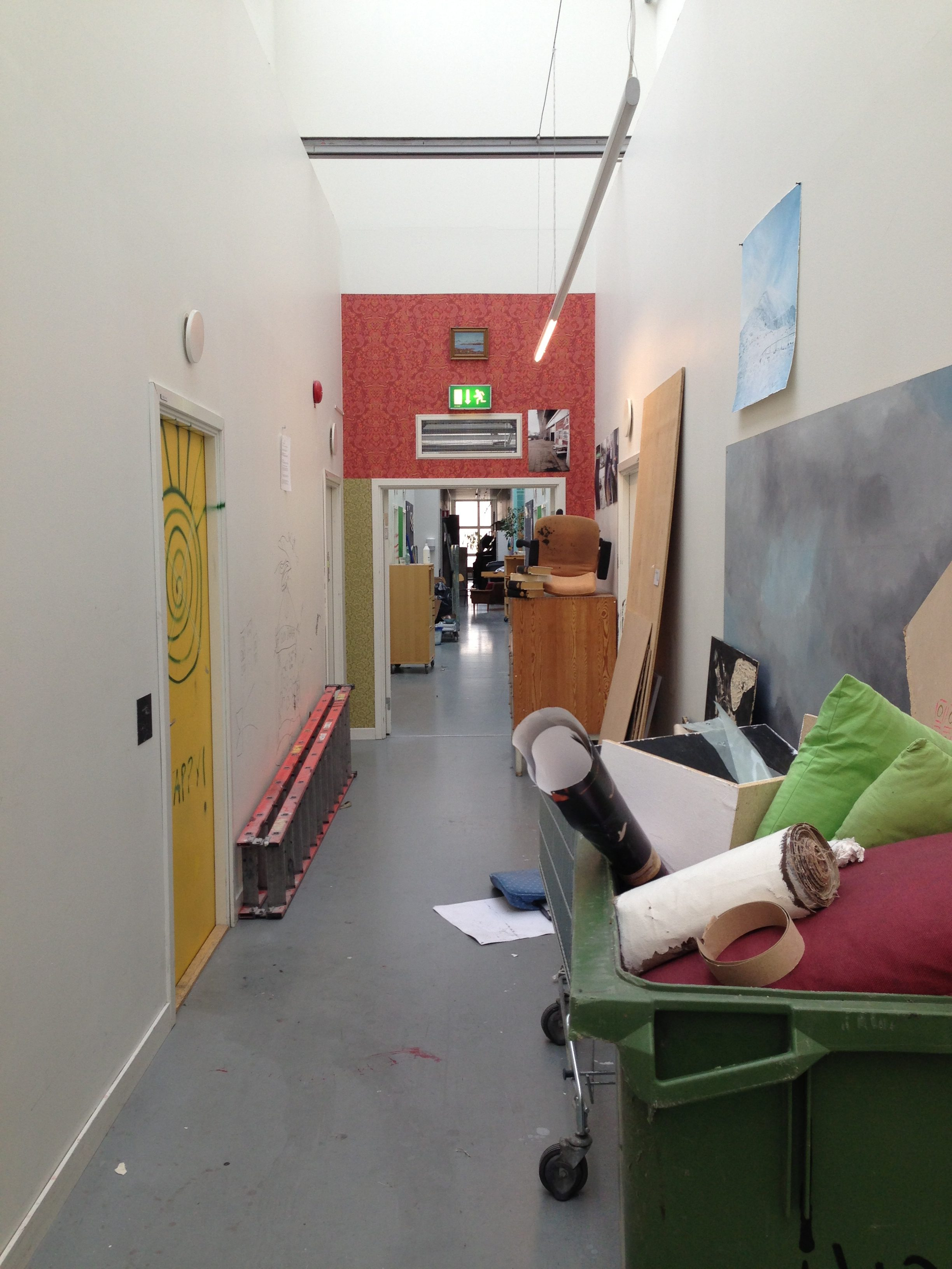 Konstfack Skolan, 2013. Foto Maxronnersjo, kunstacademie, interieur