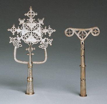 Kruizen, Ethiopië, 1800-1899. Collectie World Jewellery Museum, zilver