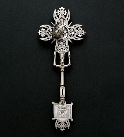 Kruis, Ethiopië, 1800-1899. Collectie World Jewellery Museum, zilver