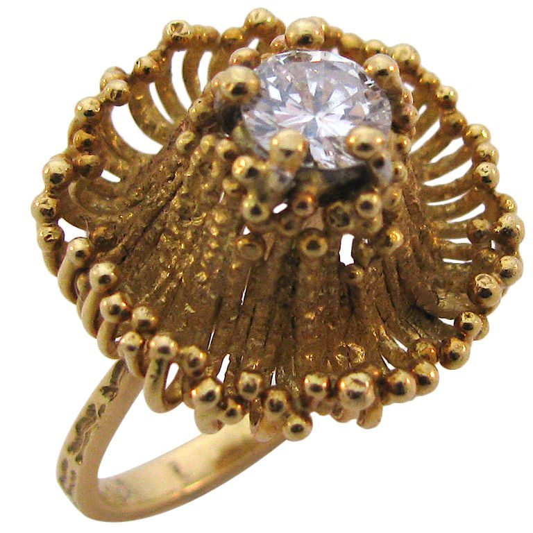 Andrew Grima, ring, circa 1970. Foto Kimberly Klosterman, goud, diamant