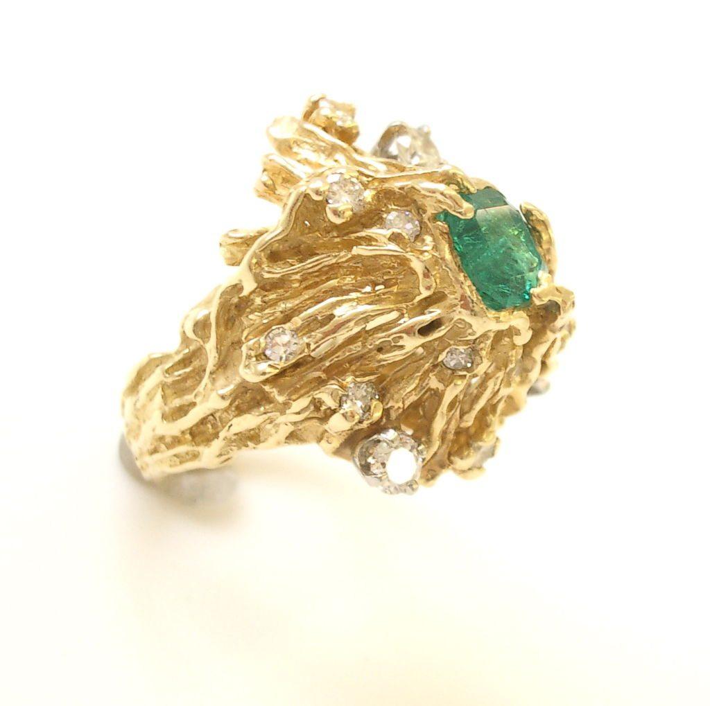 Nathan Cabot, ring, 1960. Foto Kimberly Klosterman, goud, smaragd, diamant, Verenigde Staten