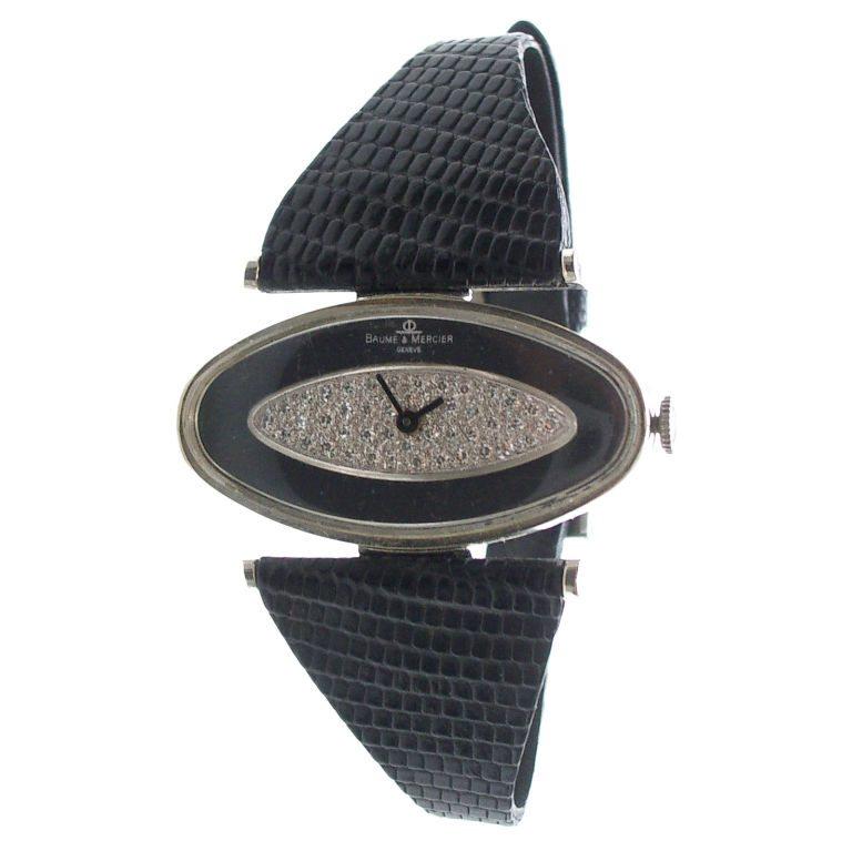 Baume & Mercier, horloge, circa 1970. Foto Kimberly Klosterman, goud, diamant, onyx