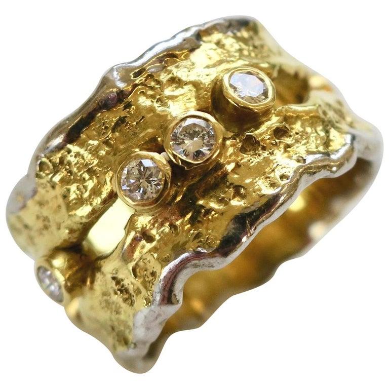 Charles de Temple, ring, 1980. Foto Kimberly Klosterman, wit goud, goud, diamant