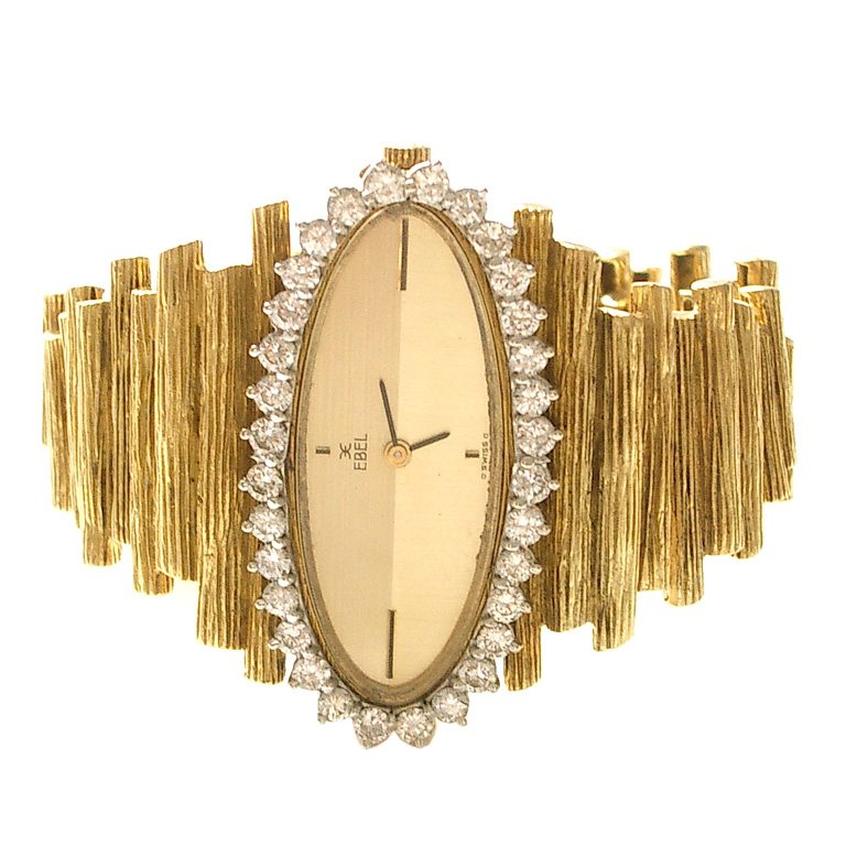 Ebel, horloge, circa 1960. Foto Kimberly Klosterman, goud, diamant