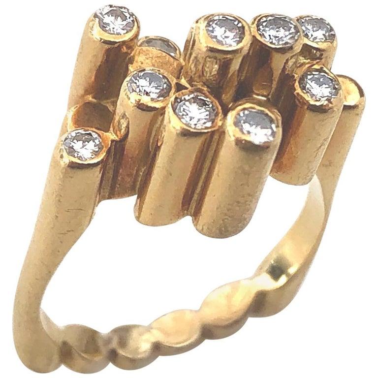 Ring, 1970-1979. Foto Kimberly Klosterman, goud, diamant