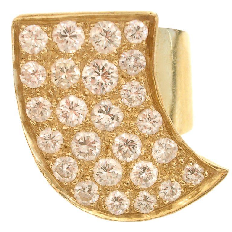 Ring, circa 1970. Foto Kimberly Klosterman, goud, diamant