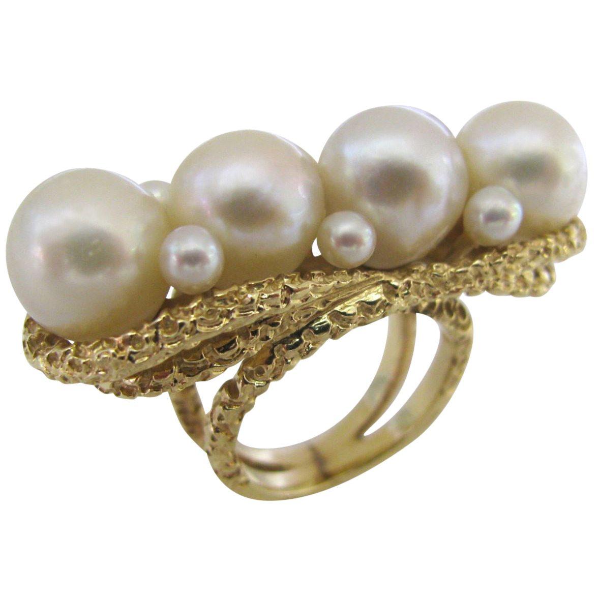 Ring, circa 1960. Foto Kimberly Klosterman, goud, parel