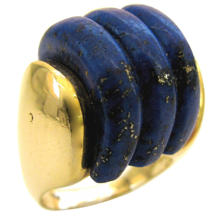 Ring, Verenigde Staten, circa 1970. Foto Kimberly Klosterman, goud, lapis lazuli