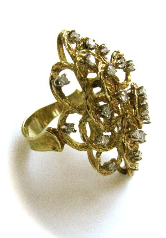 Ring, Italië, circa 1960. Foto Kimberly Klosterman, goud, diamant