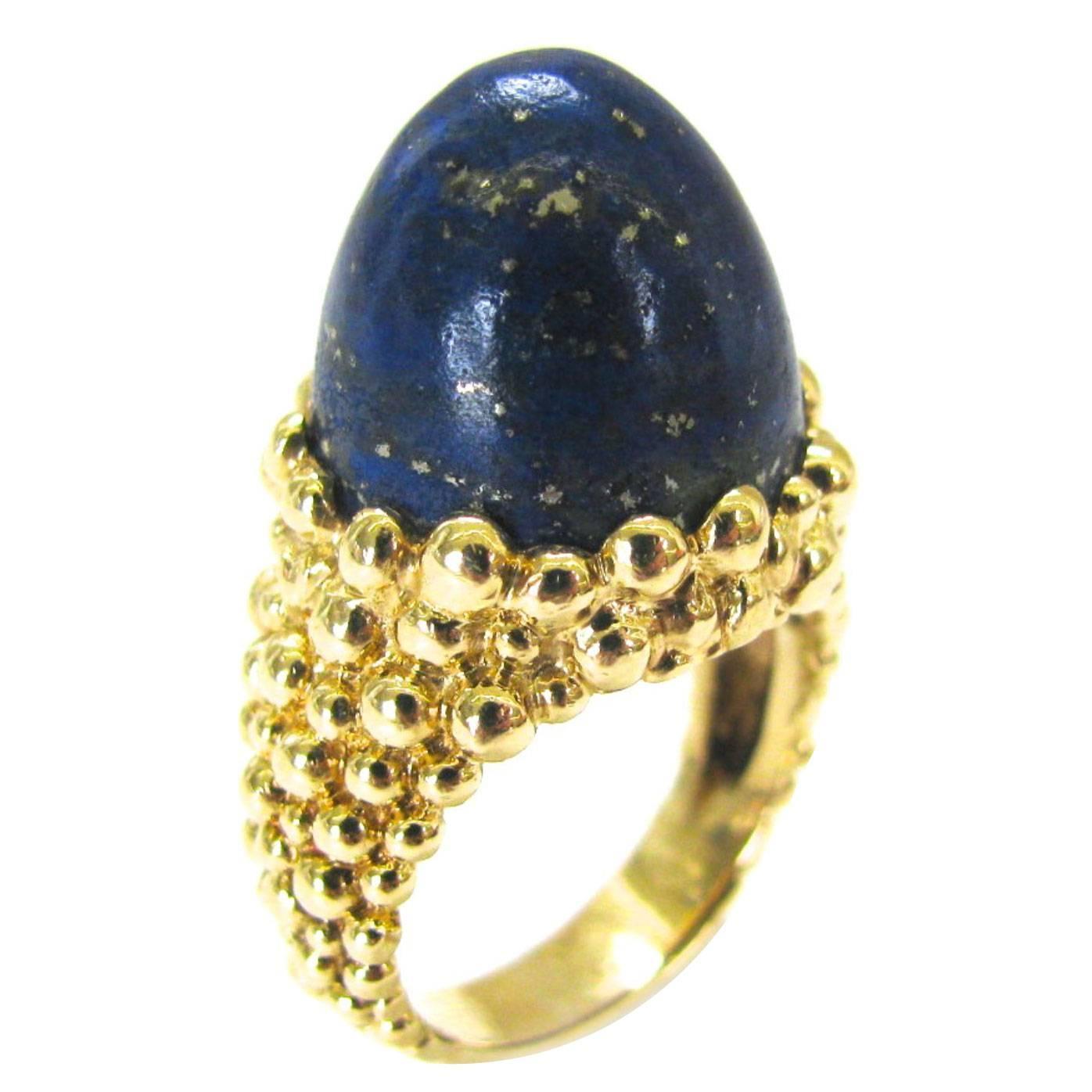 Kutchinsky, ring, circa 1970. Foto Kimberly Klosterman, goud, lapis lazuli