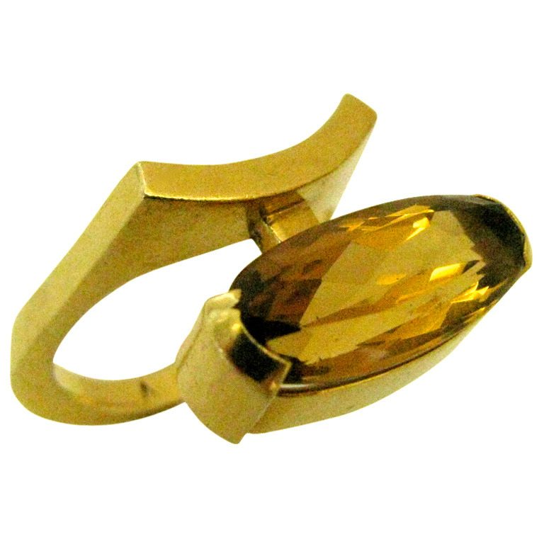 Ring, Frankrijk, circa 1965. Foto Kimberly Klosterman, goud, citrien