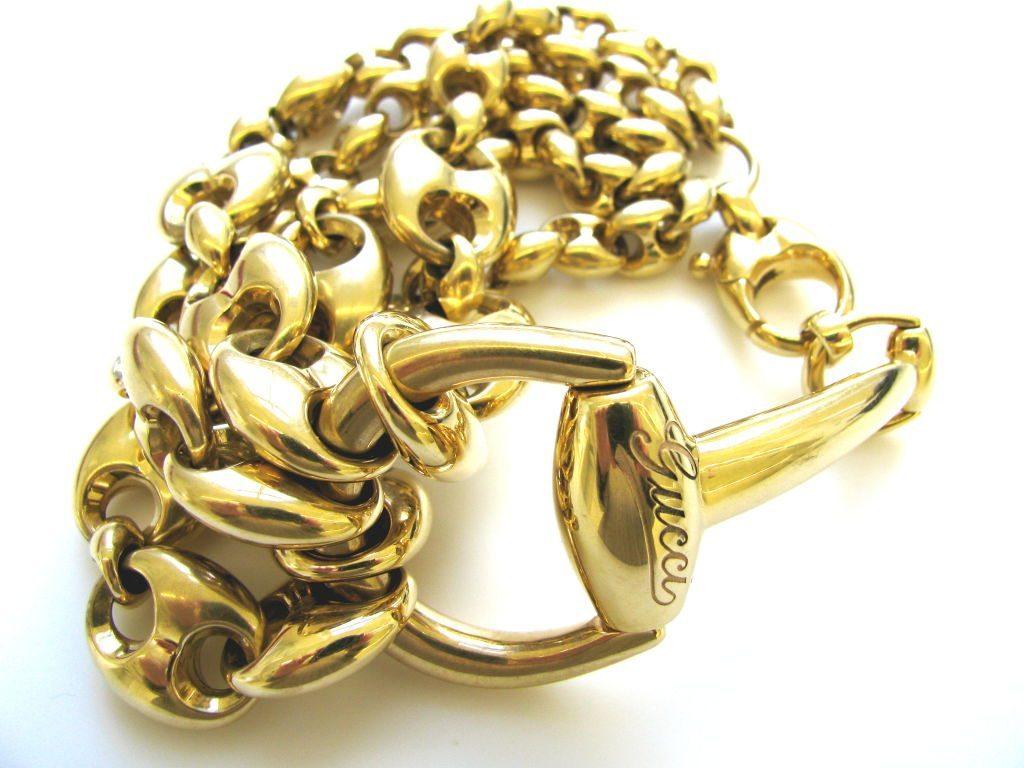 Gucci, armband, circa 1980. Foto Kimberly Klosterman, goud