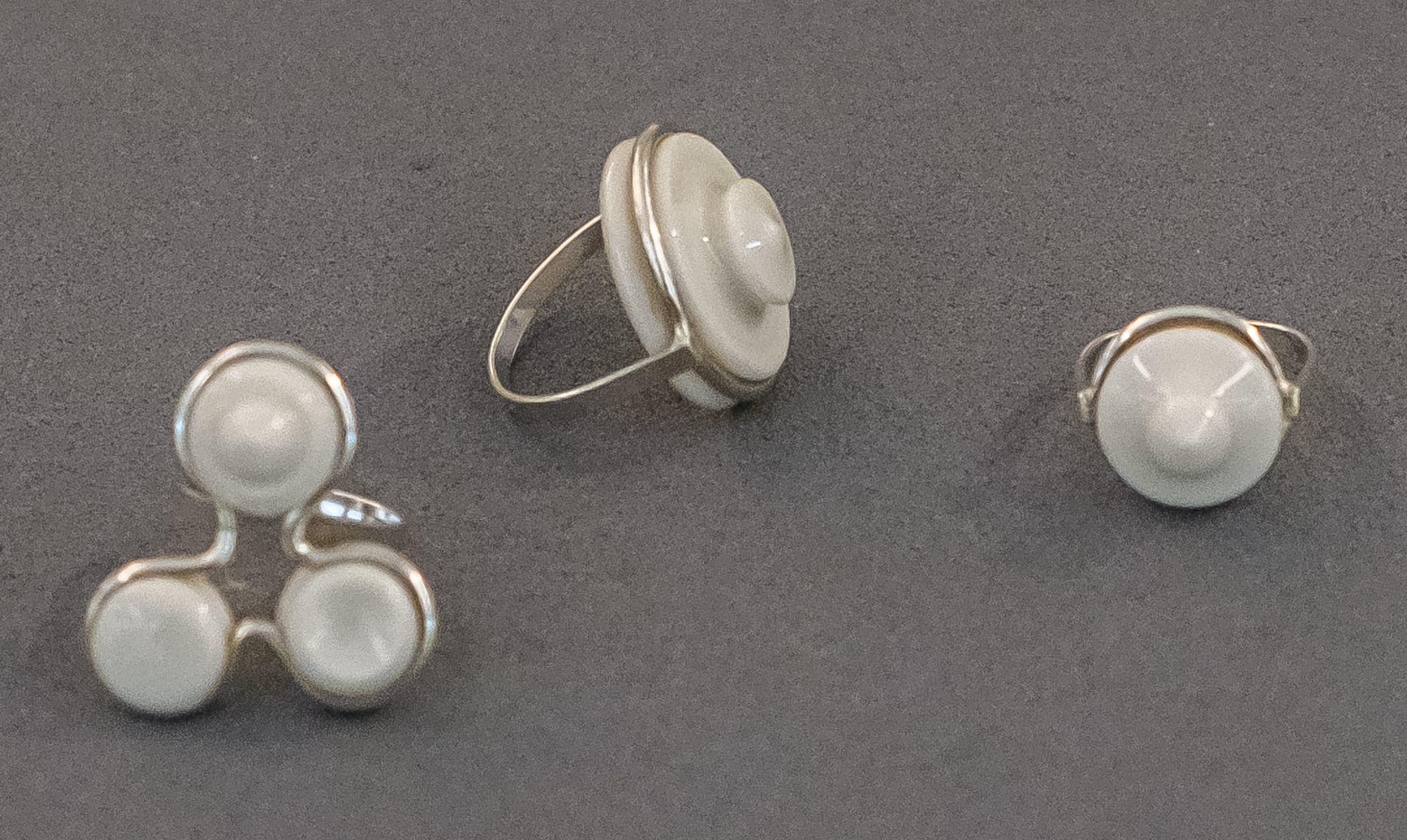 Judith Bloedjes, ringen, CODA, 2021, tentoonstelling, porselein, zilver