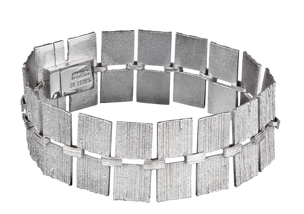 Björn Weckström, Quadro Bracelet, armband, 2010. Foto Björn Weckström, zilver