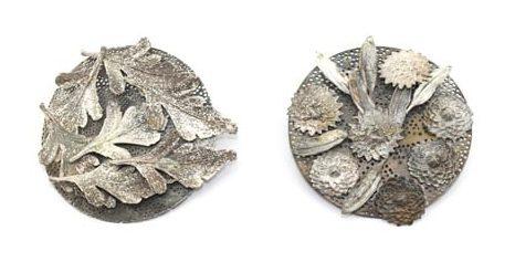Marian Hosking, Celery Top Pine & Paper Daisy, 2011, zilver