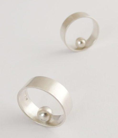 Akiko Kurihara, Self Righting Ring 01, zilver