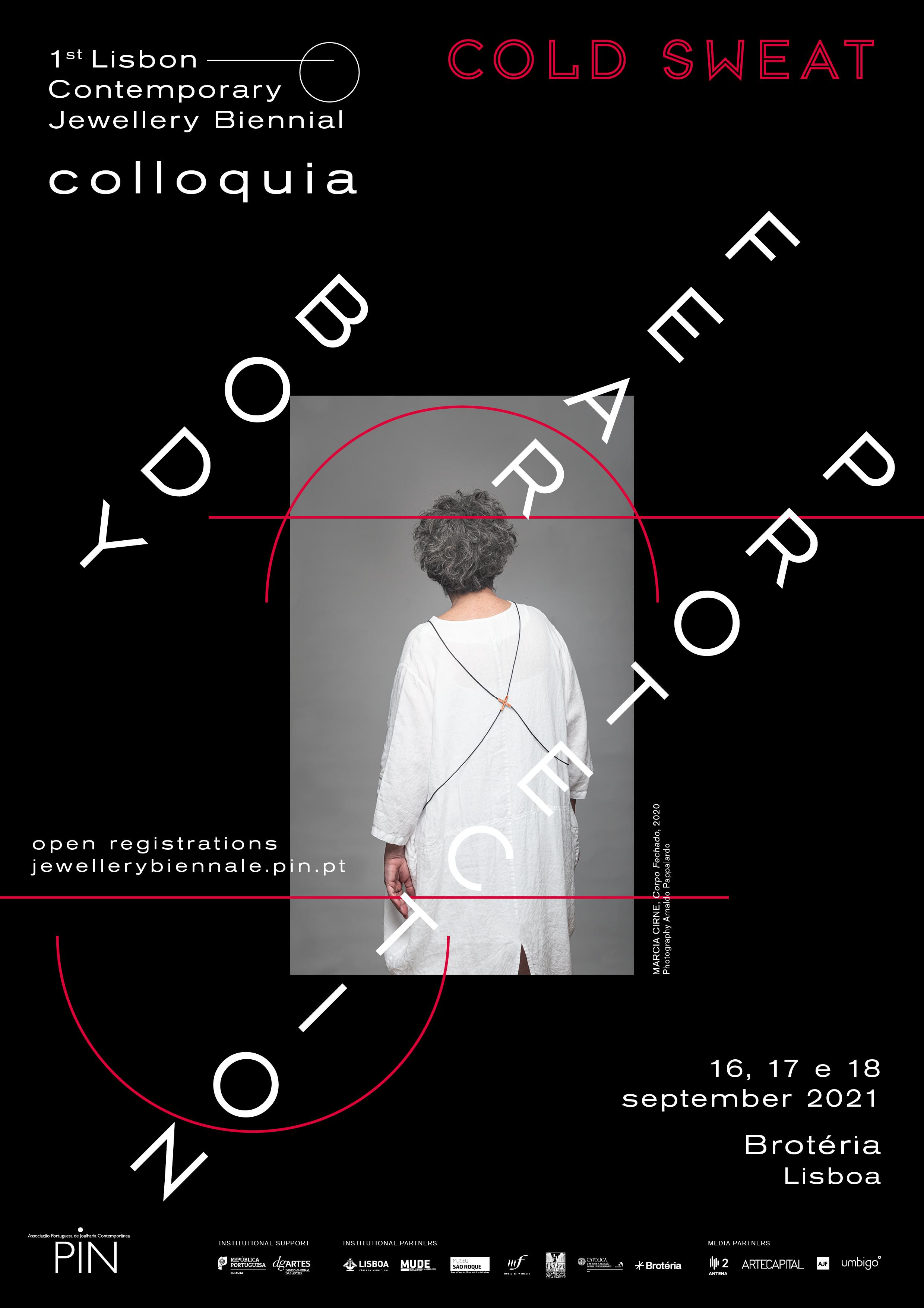 Flyer Colloquia, 1st Lisbon Cotemporary Jewellery Biennial 2021. Foto PIN,