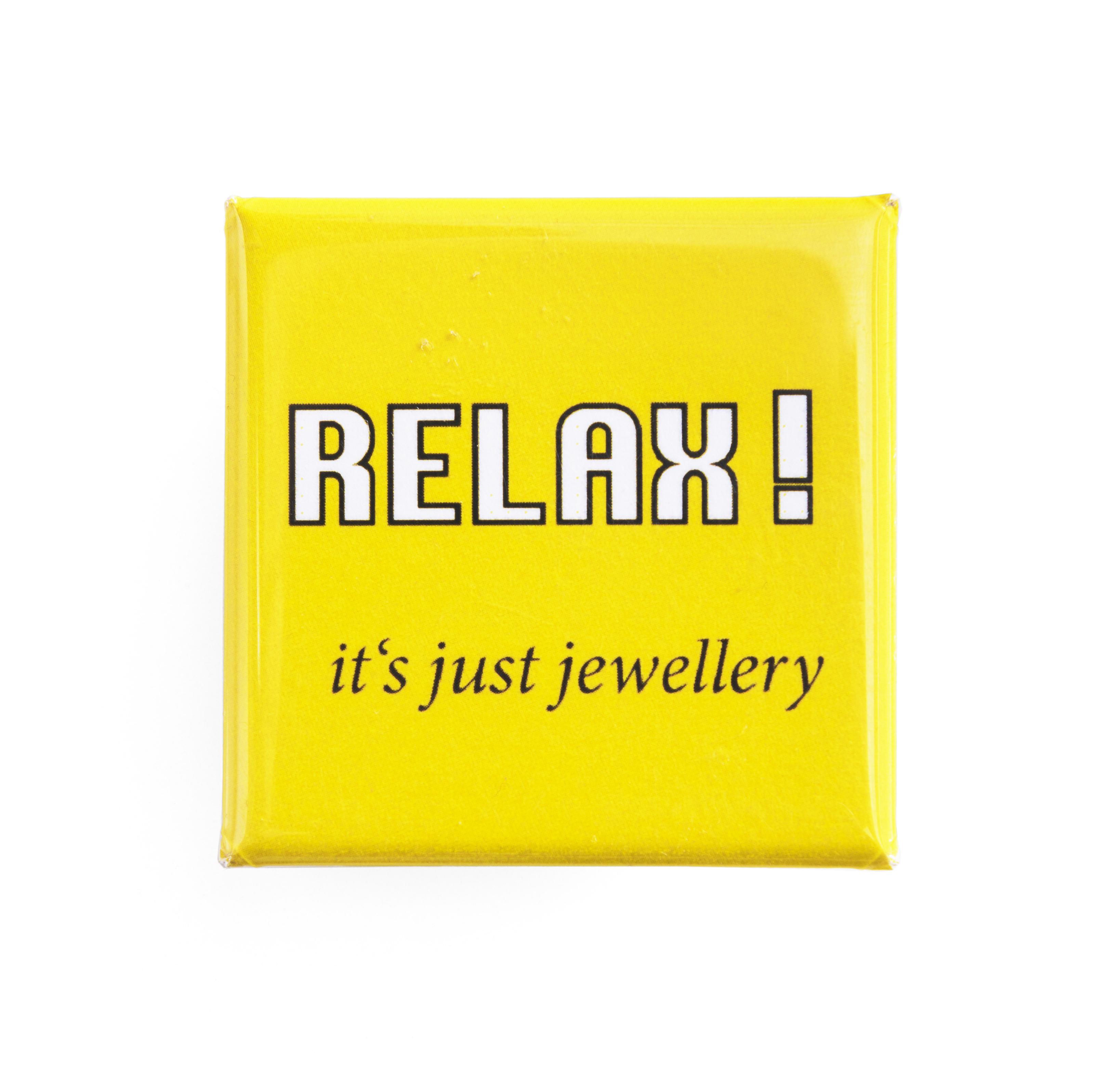 Peter Bauhuis, RELAX! it's just jewellery, broche, 2016, Collectie Jorunn Veiteberg