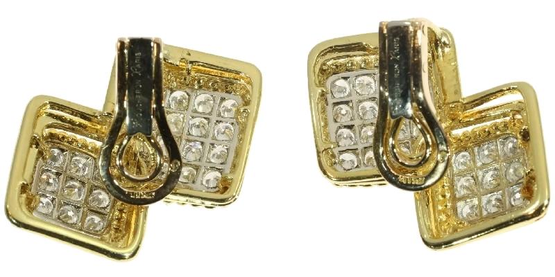 Boucheron, oorsieraden, circa 1950. Foto Adin, platina, goud, diamanten, clips