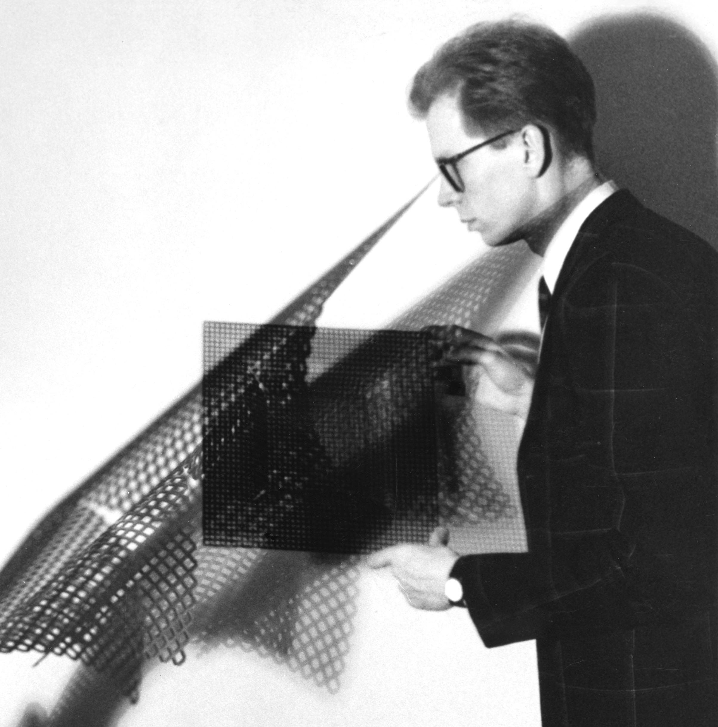 Hans Appenzeller, geperforeerde hand-geforceerde schalen, 1978, illustratie bij een interview in 'Andy Warhol's Interview Magazine, 1984