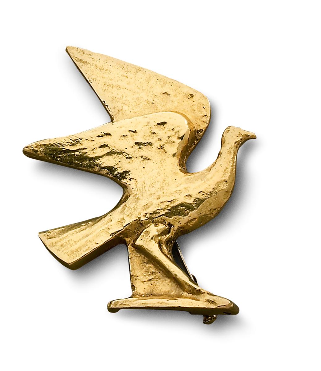Alberto Giacometti, Oiseau aux ailes déployées, circa 1935-1939. Particuliere collectie, Parijs, goud