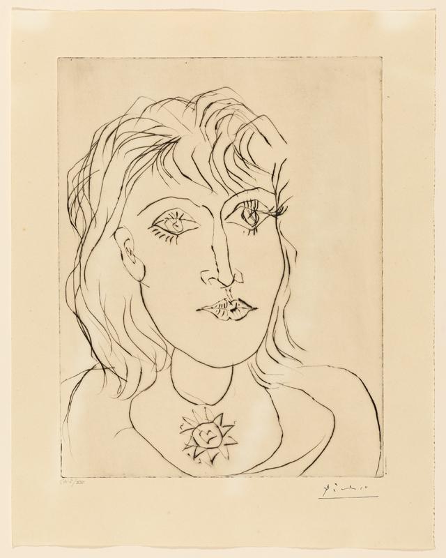 Pablo Picasso, Dora Maar met halssieraad, 7 oktober 1937. Collectie Museu Picasso MPB 112.669. Foto Gasull Fotografia, portret