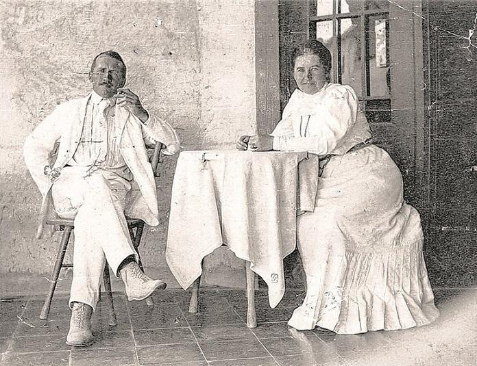 Josef Maria Auchentaller en Emma Scheid in Grado, circa 1915, portret