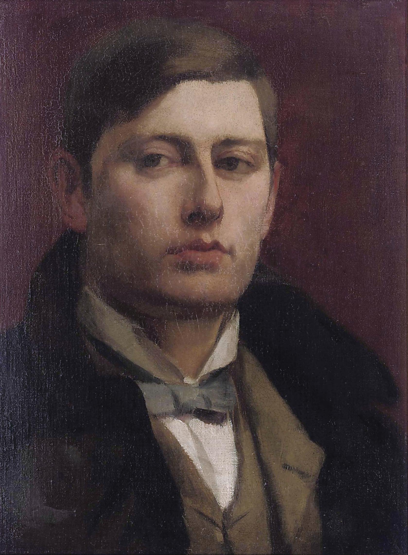 Latham, portret George Frampton, 1880-1900, oliverf op doek
