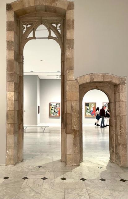 Museu Picasso, Barcelona. Foto Ronald Manrho, 2021, interieur, schilderij