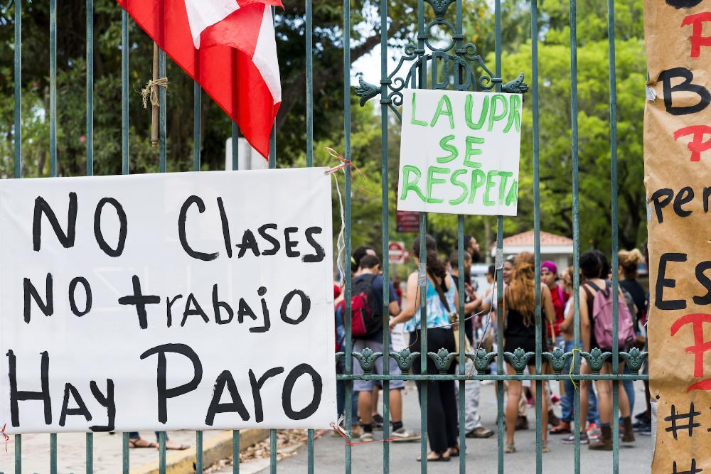 pr student protest