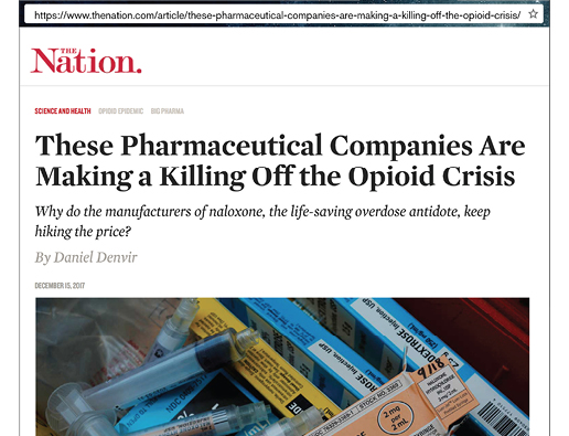 Photo of The Nation headline: These Pharmaceutical Companies Are Making a Killing off the Opioid Crisis