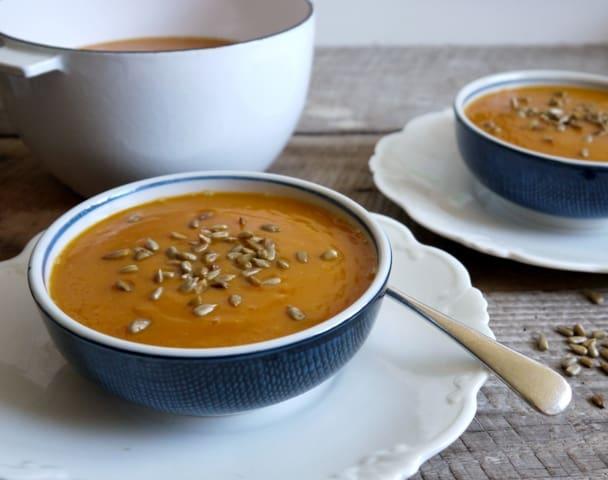 Harissa Baked Butternut Squash Soup