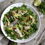 Baked Mackerel Salad with Hot Ginger Dressing