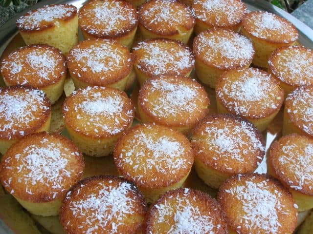 Mini Lemon and Almond Coconut Cakes