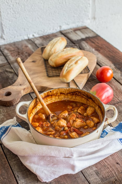This Chicken Chorizo and Chickpea Stew is nourishing, comforting and ...