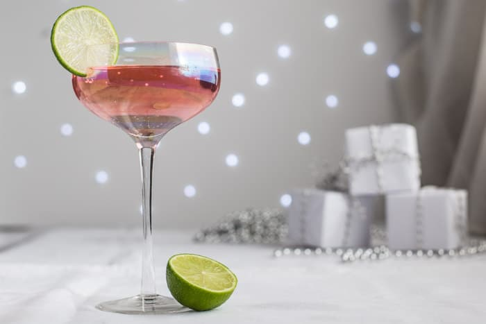 A pink elephant cocktail