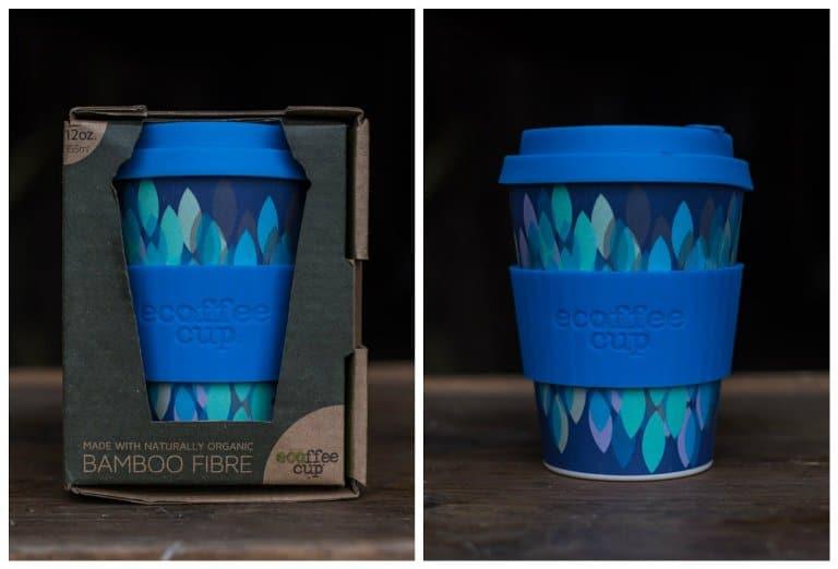 Bamboo coffee travel mug